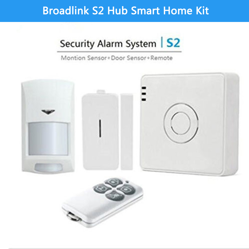 Broadlink S2 Hub Kit Alarm Security Kit Door Sensor Remote Control Smart Home Automation Alarm System Remote for IOS Android