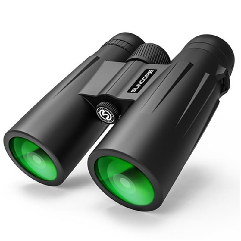 10x42 12x42 Telescope High Power Binoculars BAK4 Prism Light Night Vision Dual Green Film Zoom Hunting
