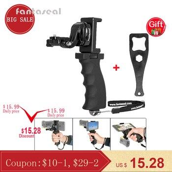 Fantaseal działania kamery ręki chwyta uchwyt do góry + klips do telefonu komórkowego na Sony AS200V AS300R FD-X3000R SJCAM Gear 360 stabilizator uchwyt