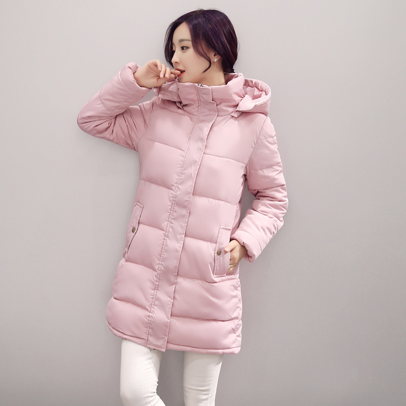 2016 New Autumn And Winter Jacket Cotton Dress The Long Section Korean Students Free Shipping