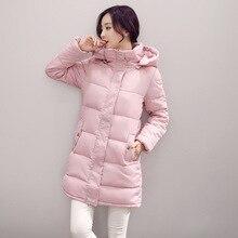 2016 Новых Осенью И Зимой Куртки Хлопка Платье Длинный Отрезок Корейских Студентов Бесплатная Доставка