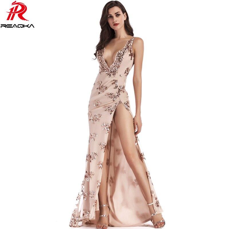 bbd5492d6 Sexy Women Evening Luxury Party Club Elegant Sequins Dress 2018 Wedding Vestidos  De Festa Womens Gold