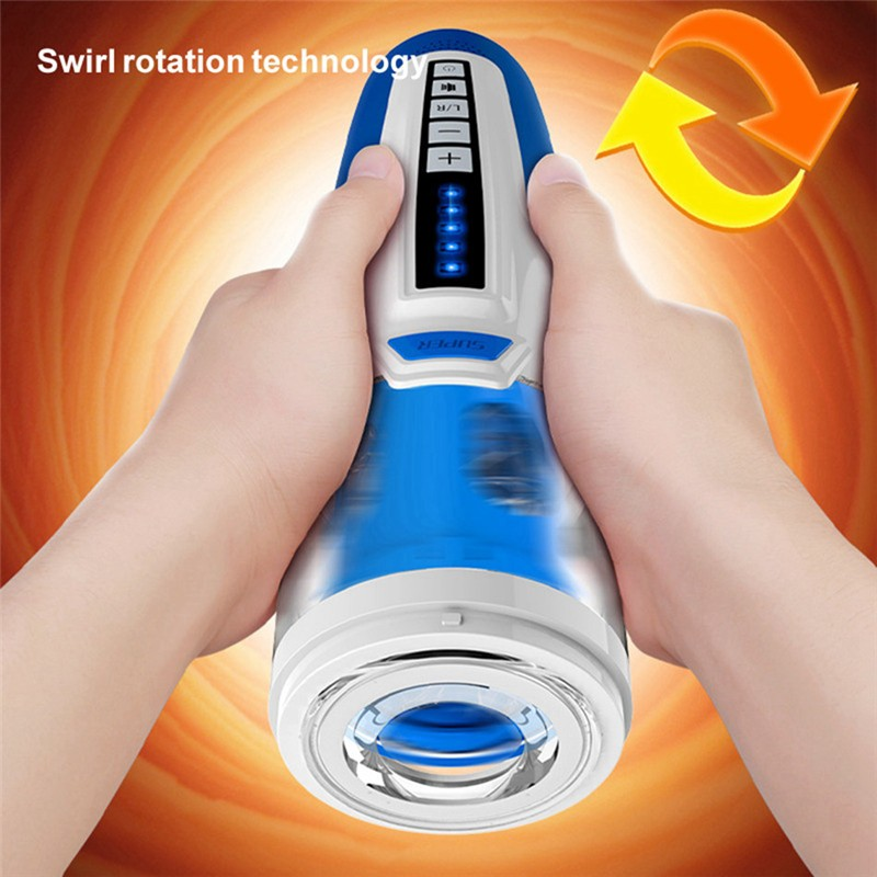 Electric Male Masturbators Reciprocating and Rotating Masturation Vagina Trainer Artificial Pussy Adult Sex Toy Sex Product Men - 2