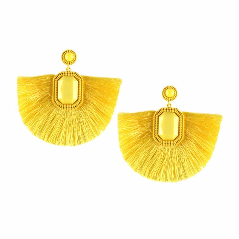 7240be757 ... Best lady Za Yellow Resin Beaded Drop Earrings for Women Wedding Bridal  Gift Ethnic Jewelry Bohemian