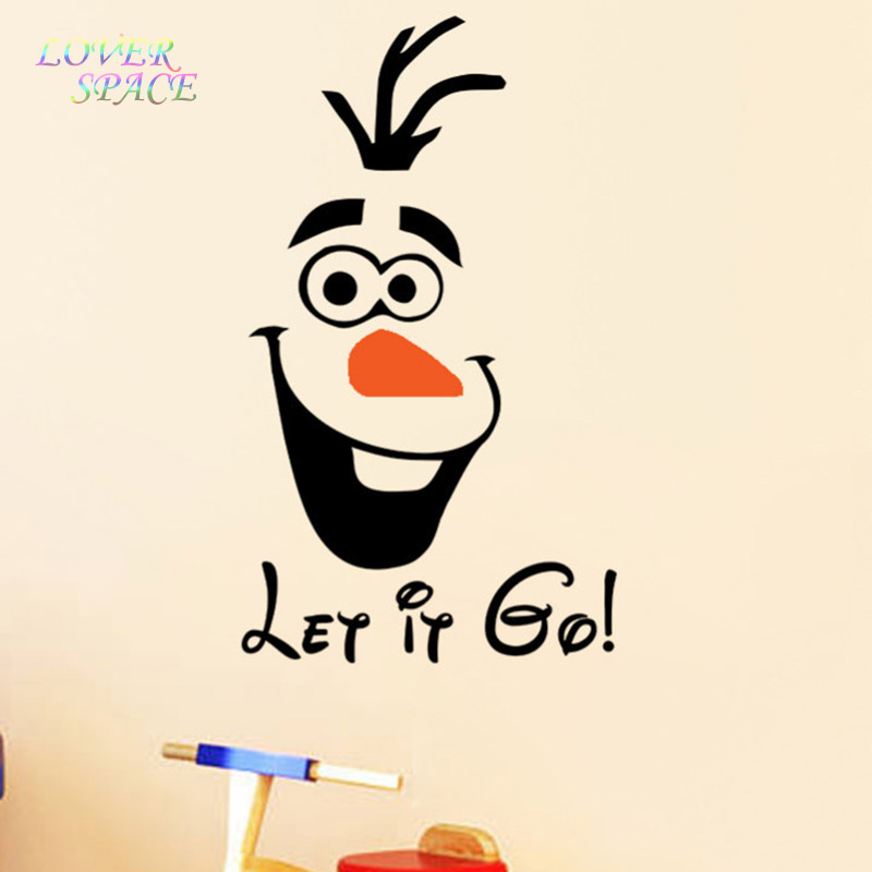 Olaf  let it go  Funny Novelty Toilet Seat/Sticker/Decal Fashion 3D Wall Stikcers On The Wall Home Decoration LS59170