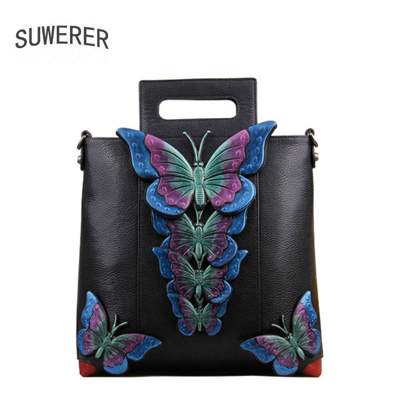 SUWERER2018 high-quality fashion luxury brand handbag shoulder bag leather bag counter genuine, women's well-known brand