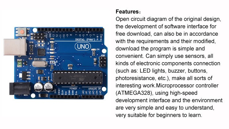 UNO R3 development board microcontroller MEGA328P ATMEGA16U2 For Arduino TE111