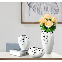Creative Water stone ceramic vase Decorative crafts flower vases hydroponic dried flowers flowerpot for home wedding decoration
