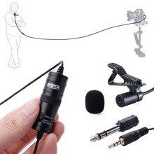 Boya omnidireccional lavalier micrófono de condensador para canon nikon sony, para iphone 6 s plus grabadoras de audio de la videocámara dslr by-m1