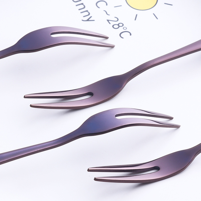9 Pieces Stainless Steel Cake Forks 2