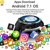 2019 Новый Smart 4G Смарт часы Android 7,1 OS MTK6739 4 ядра 1,28 ГГц 1 Гб оперативной памяти, 16 Гб встроенной памяти, Ip68 Smartwatch IP68 водонепроницаемые часы PK Z28 LEM9 н