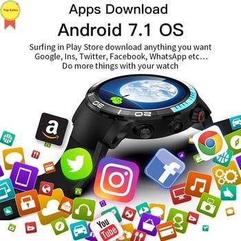 Reloj inteligente a prueba de agua Android 7,1 4G Bluetooth reloj deportivo teléfono Android sistema Cámara sim tarjeta reloj deportivo de exterior google map