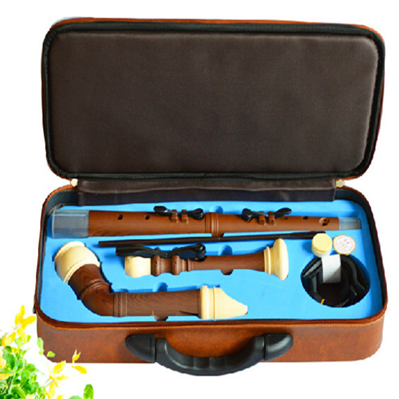 Bass Clarinet Wood Grain Baroque Recorder Bass F key 8 Holes Vertical Flute Professional Musical Instruments Flauta Bass Flute baroque flute concertos