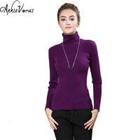 Women Sweater Long Knitted Wool Sweater Crochet Mujer 2017 Autumn Women Fashion Tops Turtleneck Sweater New