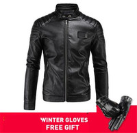 New Motorcycle Jacket PU Leather Men Vintage Retro Moto Faux Punk Leather Jackets Motorcycle Clothing Coats Slim Fit Size M 4XL