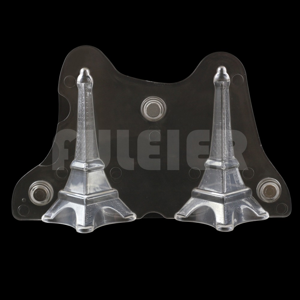3D Eiffel Tower magnetic Polycarbonate chocolate mold bakeware candy chocolate mould cake decoration pastry baking tools