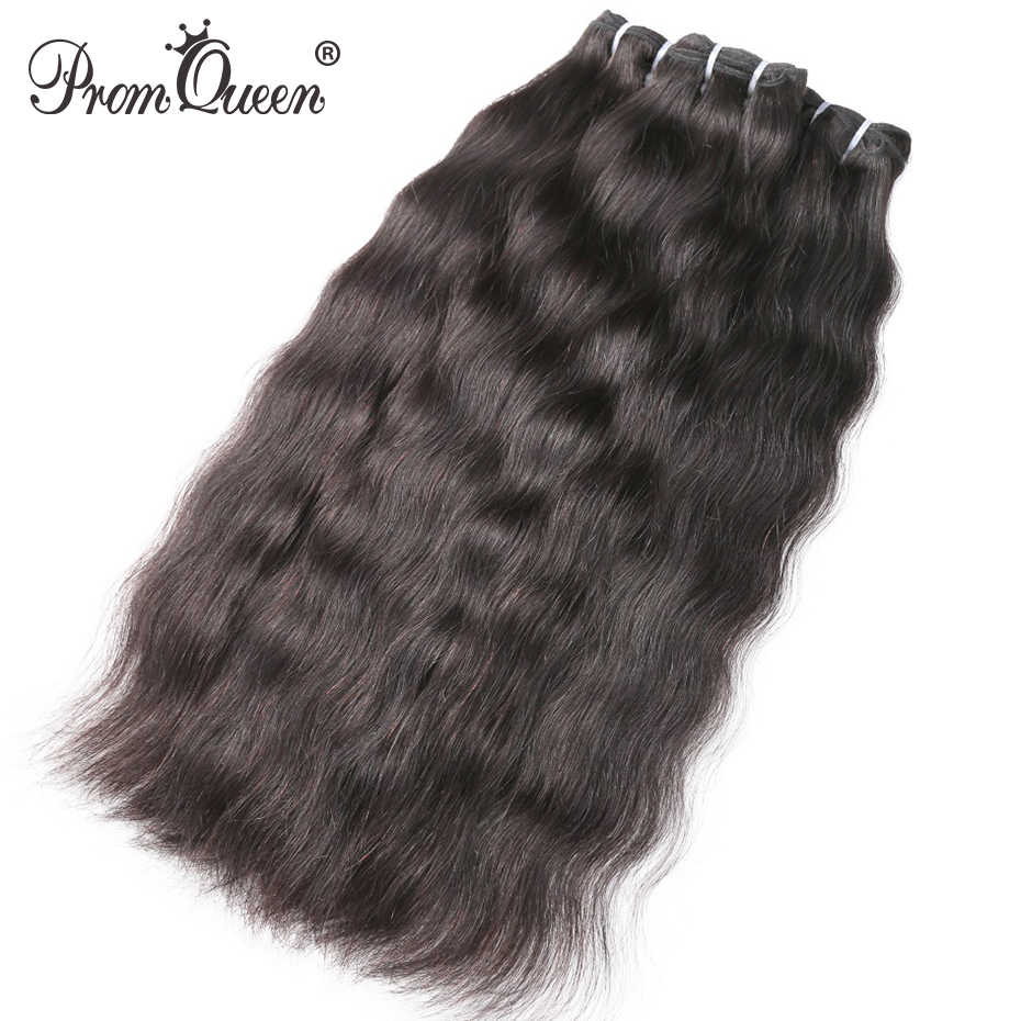 9A Prom Queen Raw Indian Virgin Hair Weave Human Hair Bundles Natural Straight Hair Weave Extension 1-3-4 P/Lots Free Shipping
