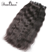 9A Prom Queen Raw Indian Virgin Hair Weave Human Hair Bundles Natural Straight Hair Weave Extension 1 3 4 P/Lots Free Shipping