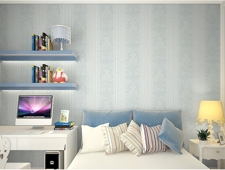 Cheaper Wholesale European Luxury Non-woven Wallpaper 3d Vertical Stripes Foaming Solid Sitting Room Bedroom TV Back Wall Paper
