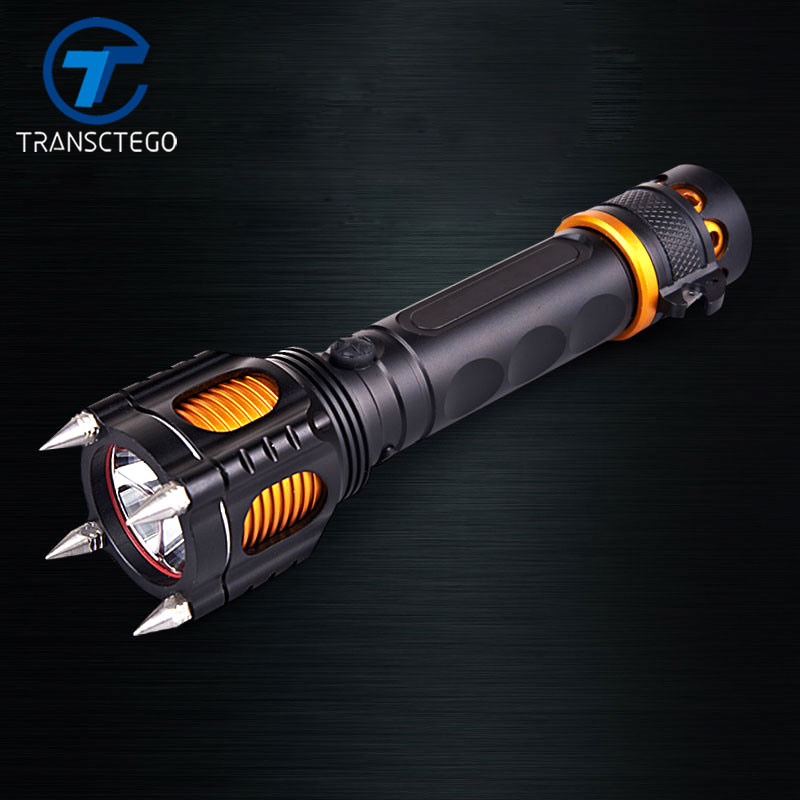 flashlight 18650 5-Mode cree-xm-l t6 self defense led glare Multi-functional rechargeable torche flashlights 950lm 3 mode white bicycle headlamp w cree xm l t6 black silver 2 x 18650