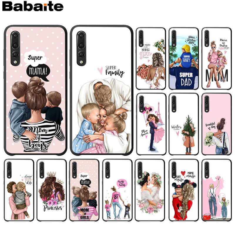 Babaite black girl Queen Mom and baby TPU black Phone Case for Huawei P10 plus 20 pro P20 lite mate9 10 lite honor 10 view10