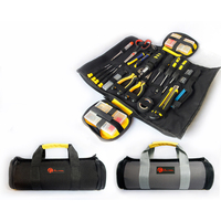 Urijk Reels Storage Tools Bag Multifunction Utility Bag Electrical Package Oxford Canvas Waterproof With Carrying Handles