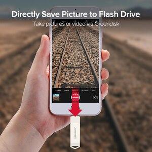Image 3 - Ugreen USB Flash Drive USB Pendrive for iPhone Xs Max X 8 7 6 iPad 16/32/64/128 GB Memory Stick USB Key MFi Lightning Pen drive