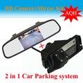 4.3 polegadas HD Espelho + HD CCD Car Rear View Câmera Reversa Do Carro para I30 hyundai solaris (Verna) hatchback GENESIS COUPE KIA SOUL