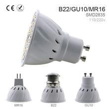LED GU10 Spotlight Bulb Corn lamp MR16 Spot light E27 48/60/80leds SMD2835 B22 Bombillas led E14 focos 220v Ampoule led maison