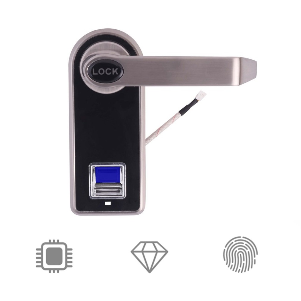 Electronic Biometric Fingerprint Door Lock Keyless Digital Door Lock Fingerprint +Password +2 Mechanical Keys For Hom waterproof electronic door lock fingerprint lock biometric door lock with wifi bluetooth digital lock door keyless security