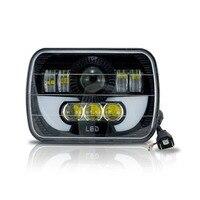 Marloo Demon LED Projector Headlight 7x6 5x7 Inch DRL H6054 Wrangler YJ Cherokee XJ Trucks Headlamp