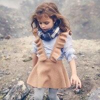 Autumn 2017 toddler girls dress girl clothing Knit Sweater Kids dresses for girl robe fille kids clothing beautiful vestidos
