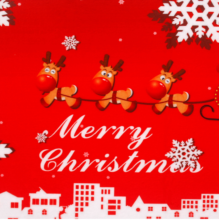 FENGRISE Merry Christmas Door Mat Santa Claus Flannel Outdoor Carpet Christmas Decorations For Home Xmas Party Favors New Year 10