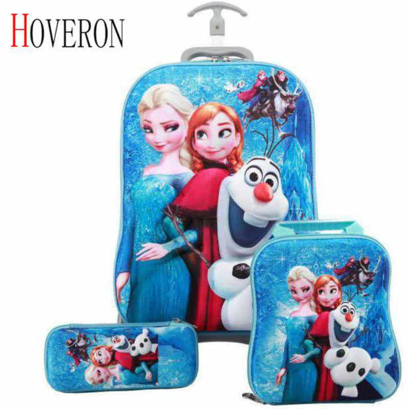 Children Anime Travel Trolley Case Kids Travel 3PCS/set Suitcase Boy Girl Creative Cartoon Pencil Box Children Christmas Gift