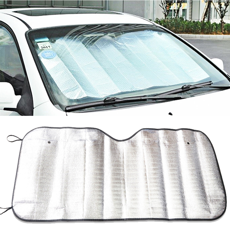 UV Protection Shield Universal Front Rear Car Window Sunshade Sun Shade Visor Windshield Cover Auto Car Sun Shades Anti Snow Ice|Front Window| |  - title=