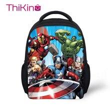 Thikin Avengers Marvel Hero Preschool Travel Book Backpack for Kid Pupils Little Girls Schoolbag Good Childrens Gifts Present