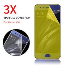 Full Cover Screen Protector for Xiaomi Mi 6 Gold Protective Layer Clear 3rd Gen TPU(not tempered glass) Screen Protective Film(China)