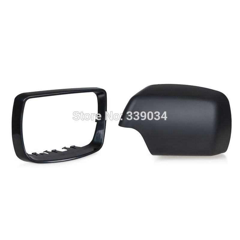 For BMW E53 X5 Left Right Side Door Mirror Cover Trim 2000 2001 2002 2003 2004 2005 2006 Rearview Mirror Cover Cap 51168256321 18pcs canbus error free led foot footwell interior lights package kits for bmw x5 e53 m 2000 2001 2002 2003 2004 2005 2006
