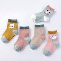 New Daivsxicai Fashion Boys Socks Creative Girls Baby Kids Toddler Cartoon College Wind Knitted Children Sock 5pairs/lot 1 10