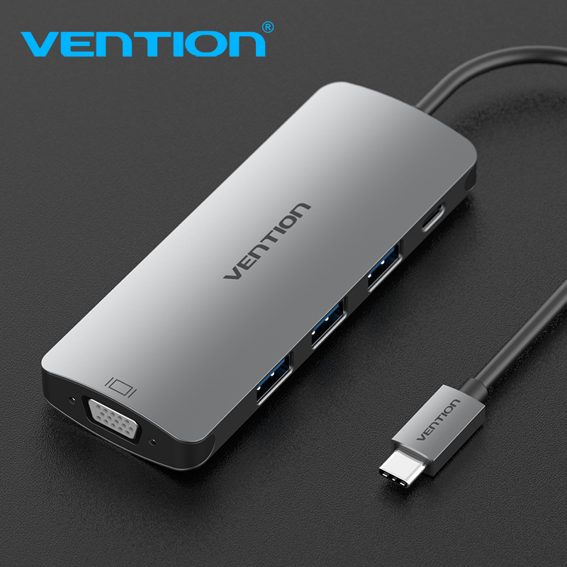 Vention USB C Adapter USB-C to 3.0 HUB VGA Thunderbolt 3 Adapter for MacBook Samsung Galaxy S9/S8 Huawei P20 Type C Converter herobiker motorcycle protection motorcycle armor moto protective gear motocross armor racing full body protector jacket knee pad