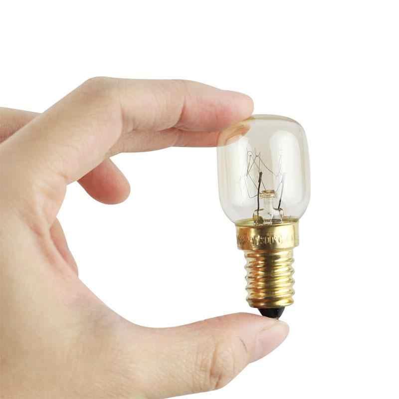 Mini 220V 300 grados de alta temperatura 15W / 25W SES E14 horno tostadora/bombillas de vapor, lámpara de campana extractora, Bombilla de sal