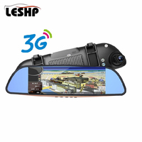 7 Full HD 1080P Intelligent Bluetooth Android 5.0 System Car DVR Rearview Mirror Dash Camera Dual Lens 3G WIFI GPS Navigation