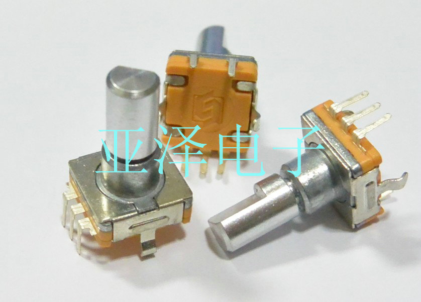 2pcs/lot Rise Wei Ec11 Thin Coding Switch 30 Positioning Number 15 Pulse 15 Axle Long Car Audio Digital Potentiometer Possessing Chinese Flavors Switches Lighting Accessories