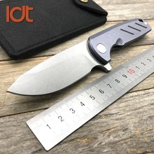 LDT Alloy Tooth Folding Knife D2 Blade Titanium TC4 Handle Outdoor Knives Camping knife Hunting Survival Bean Pocket EDC Tools bear claw hati 95 flipper folding knife d2 blade g10 tc4 titanium handle camping hunting outdoor survival pocket knives edc tool
