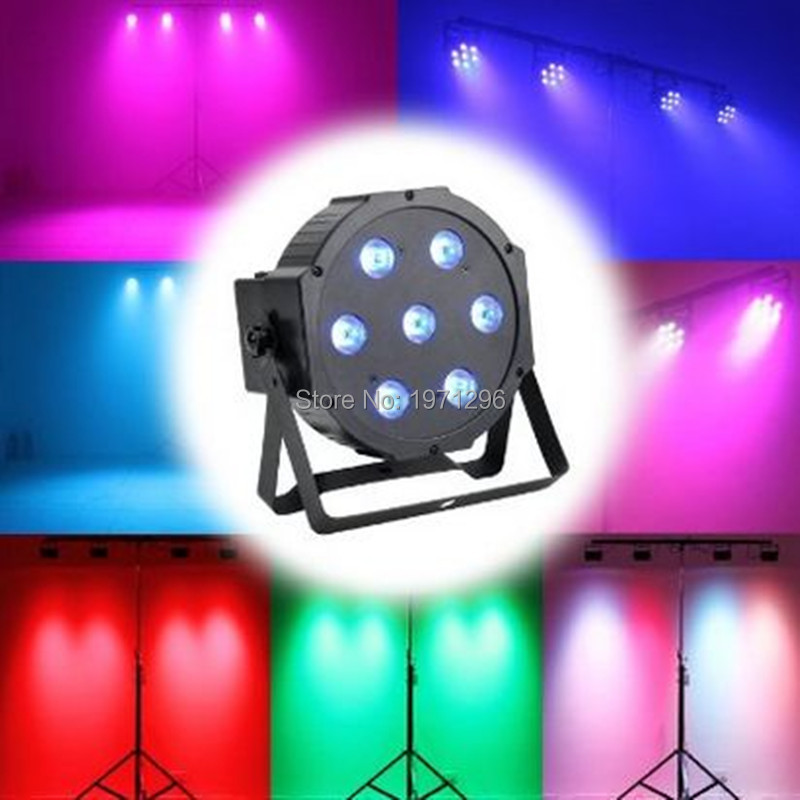 ФОТО 2017 hot Super Bright 7X12W Led RGBW Par Light Dmx512 Led Par Can Stage Lighting For Wedding DJ Event Party Show