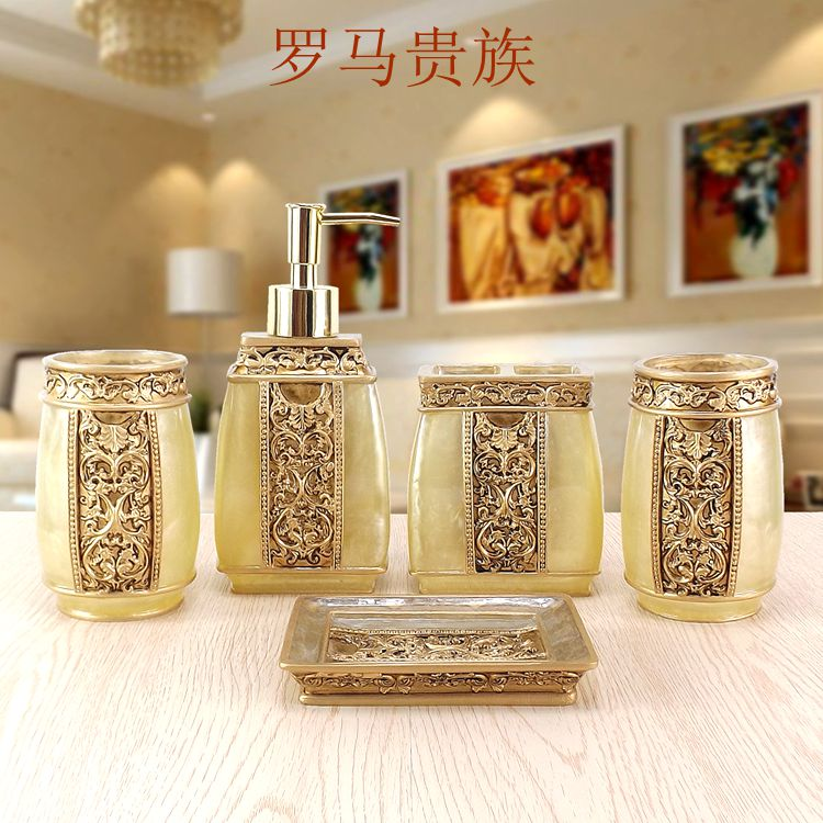 bathroom accessories rushed bathroom set toothbrush holder one new year gift wedding suit rome wash resin five
