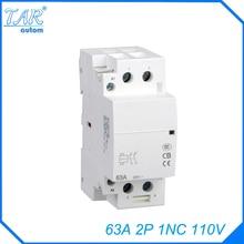 Din rail household AC contactor  63A 2P 110V 1NC Household contact module Din Rail Modular contactor