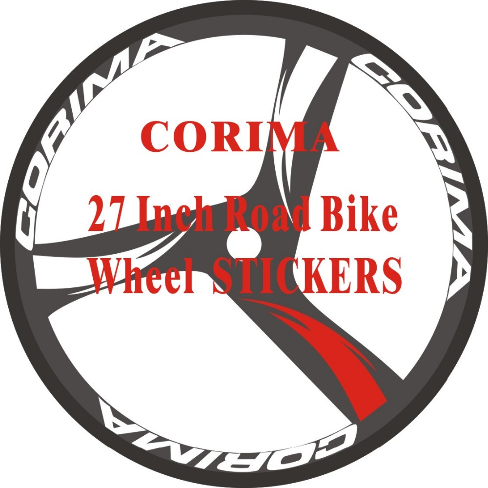 24pics 2wheels set road bike 700c wheel stickers rim racing decorative stickers bike decals wheel stickers