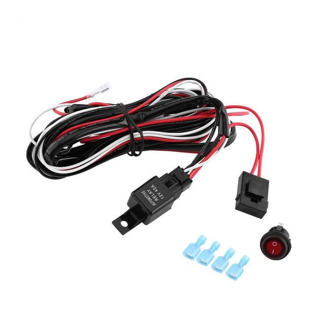 12 V Rot LED Lichtleiste ON/Off schalter Kabelbaum 40A Relais ...