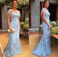 Blue Mother Of The Bride Dresses Women Short Sleeves Mermaid Formal Wedding Party Dresses Evening Gowns vestido de madrinha 2019